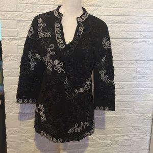 Lauren Michelle embroidered tunic